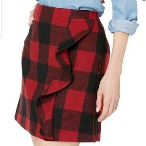 J. Crew Plaid Wool Skirt
